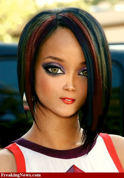 rihanna red hairstyles 2011